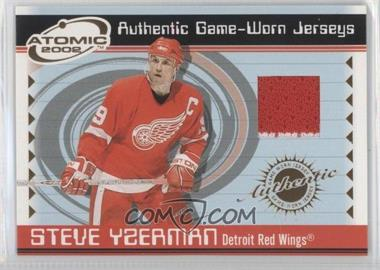 2001-02 Pacific Atomic Game-Worn Jerseys #26 - Steve Yzerman