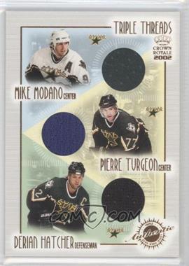 2001-02 Pacific Crown Royale [???] #8 - Mike Modano, Pierre Turgeon, Derian Hatcher
