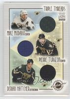 Mike Modano, Pierre Turgeon, Derian Hatcher