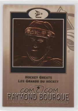 2001-02 Pacific Prism Gold McDonald's - Hockey Greats #1 - Raymond Bourque