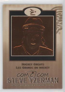 2001-02 Pacific Prism Gold McDonald's - Hockey Greats #5 - Steve Yzerman