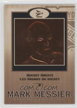 2001-02 Pacific Prism Gold McDonald's - Hockey Greats #6 - Mark Messier