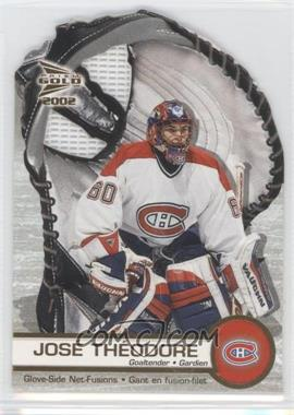 2001-02 Pacific Prism Gold McDonald's Glove Side Net-Fusions #3 - Jose Theodore