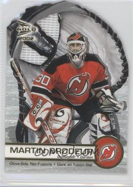 2001-02 Pacific Prism Gold McDonald's Glove Side Net-Fusions #4 - Martin Brodeur