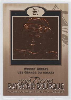 2001-02 Pacific Prism Gold McDonald's Hockey Greats #1 - Raymond Bourque