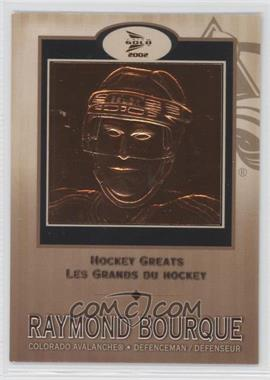 2001-02 Pacific Prism Gold McDonald's Hockey Greats #1 - Raymond Bourque