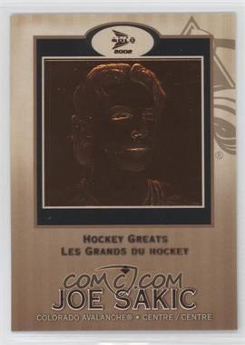 2001-02 Pacific Prism Gold McDonald's Hockey Greats #2 - Joe Sakic