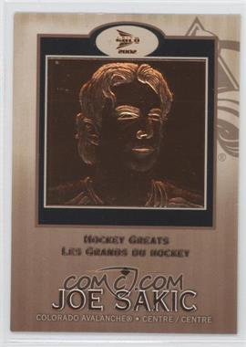 2001-02 Pacific Prism Gold McDonald's Hockey Greats #2 - Joe Sakic