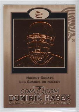 2001-02 Pacific Prism Gold McDonald's Hockey Greats #4 - Dominik Hasek