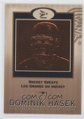 2001-02 Pacific Prism Gold McDonald's Hockey Greats #4 - Dominik Hasek