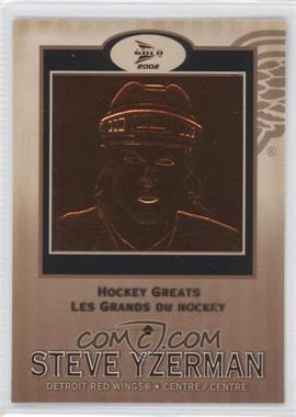 2001-02 Pacific Prism Gold McDonald's Hockey Greats #5 - Steve Yzerman
