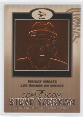 2001-02 Pacific Prism Gold McDonald's Hockey Greats #5 - Steve Yzerman
