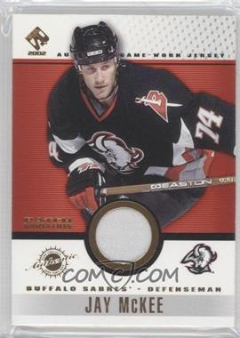 2001-02 Pacific Private Stock Game-Used Patch #11 - Jay McKee