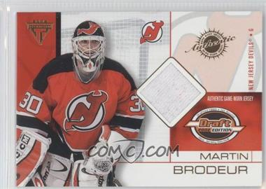 2001-02 Pacific Private Stock Titanium Draft Edition - [Base] #51 - Martin Brodeur
