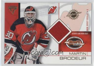 2001-02 Pacific Private Stock Titanium Draft Edition #51 - Martin Brodeur