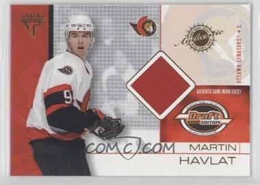 2001-02 Pacific Private Stock Titanium Draft Edition #65 - Martin Havlat