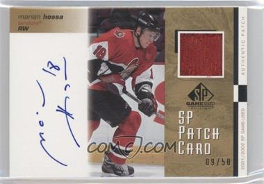 2001-02 SP Game Used Edition [???] #SP-MH - Marian Hossa /50