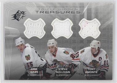 2001-02 SPx - Hidden Treasures #TT-DSA - Eric Daze, Steve Sullivan, Tony Amonte