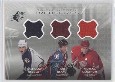 2001-02 SPx Hidden Treasures #KBL - Rostislav Klesla, Rob Blake, Nicklas Lidstrom