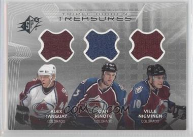 2001-02 SPx Hidden Treasures #THN - Alex Tanguay, Dan Hinote, Ville Nieminen