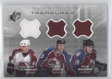 2001-02 SPx Hidden Treasures #TT-THN - Alex Tanguay, Dan Hinote, Ville Nieminen