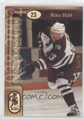 2001-02 The Patriot-News Hershey Bears #23 - Riku Hahl