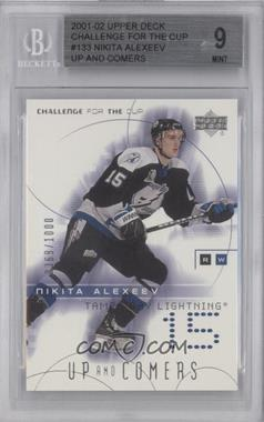 2001-02 Upper Deck Challenge for the Cup - [Base] #133 - Nikita Alexeev /1000 [BGS 9]