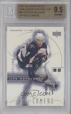 2001-02 Upper Deck Challenge for the Cup - [Base] #95 - Ilya Kovalchuk /1000 [BGS 9.5]