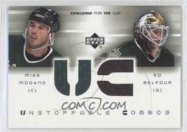 2001-02 Upper Deck Challenge for the Cup Unstoppable Combos #UC-MB - Mike Modano, Ed Belfour
