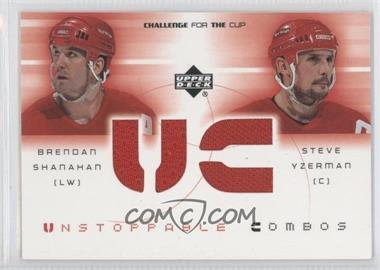2001-02 Upper Deck Challenge for the Cup Unstoppable Combos #UC-N/A - Brendan Shanahan, Steve Yzerman