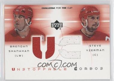 2001-02 Upper Deck Challenge for the Cup Unstoppable Combos #UC-SY - Brendan Shanahan, Steve Yzerman