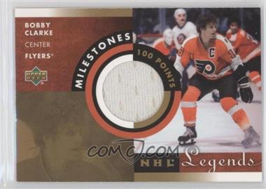 2001-02 Upper Deck Legends - Milestones Jerseys #M-BC - Bobby Clarke