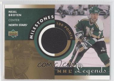 2001-02 Upper Deck Legends - Milestones Jerseys #M-NB - Neal Broten
