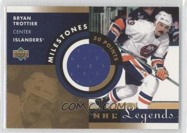2001-02 Upper Deck Legends Milestones Jerseys #M-BT - Bryan Trottier