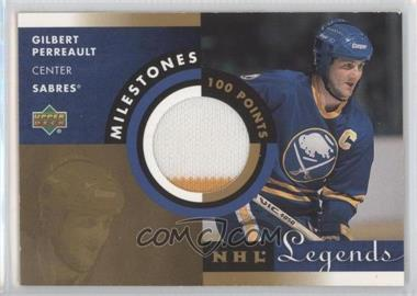 2001-02 Upper Deck Legends Milestones Jerseys #M-GP - Gilbert Perreault