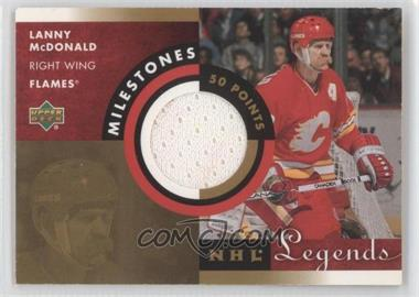 2001-02 Upper Deck Legends Milestones Jerseys #M-LM - Lanny McDonald