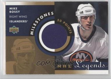 2001-02 Upper Deck Legends Milestones Jerseys #M-MB - Mike Bossy