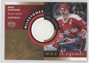 2001-02 Upper Deck Legends Milestones Jerseys #M-MG - Mike Gartner