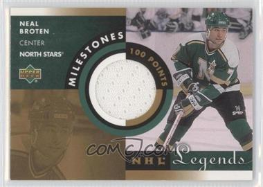 2001-02 Upper Deck Legends Milestones Jerseys #M-NB - Neal Broten