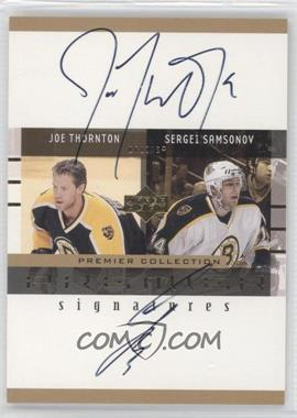 2001-02 Upper Deck Premier Collection - Premier Signatures #JS - Joe Thornton, Sergei Samsonov