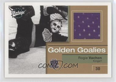 2001-02 Upper Deck Vintage Golden Goalies #GG-RV - Rogie Vachon