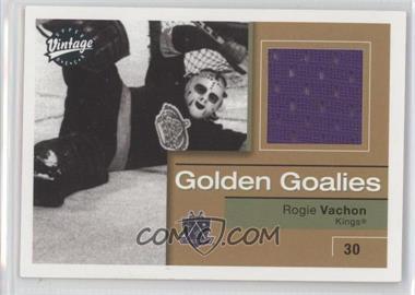 2001-02 Upper Deck Vintage Golden Goalies #GG-RV - Rogie Vachon