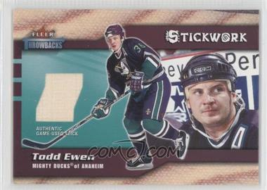 2002-03 Fleer Throwbacks [???] #NoN - Todd Ewen