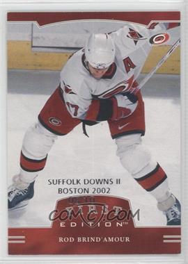 2002-03 In the Game Be A Player First Edition Suffolk Downs II Boston 2002 #278 - Rod Brind'Amour /10
