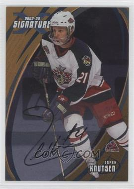 2002-03 In the Game Be A Player Signature Series [???] #059 - Espen Knutsen