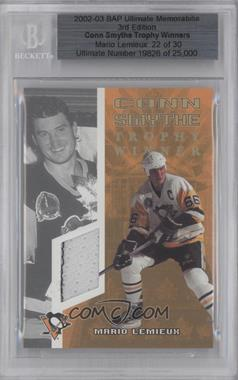 2002-03 In the Game Be A Player Ultimate Memorabilia 3rd Edition - Conn Smythe Trophy Winners #MALE - Mario Lemieux /30 [BGSAUTHENTIC]