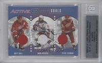 Brett Hull, Mark Messier, Steve Yzerman [BGS AUTHENTIC]