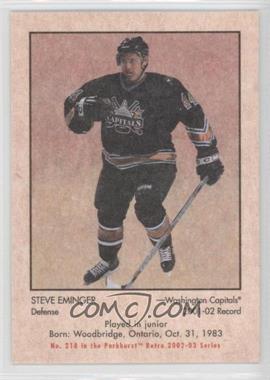 2002-03 In the Game Parkhurst Retro #218 - Steve Eminger /300