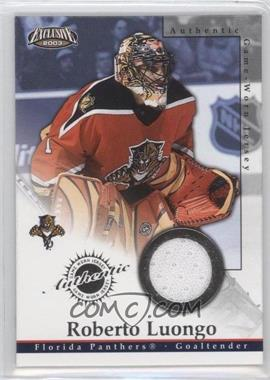 2002-03 Pacific Exclusive Game-Worn Jerseys #11 - Roberto Luongo