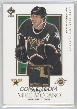 2002-03 Pacific Private Stock Reserve - [Base] - Game-Worn Jerseys Patches [Memorabilia] #115 - Mike Modano /150